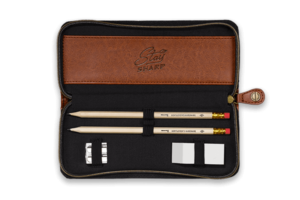 Stay Sharp Gentleman's Hardware Charcoal Canvas Pencil Case