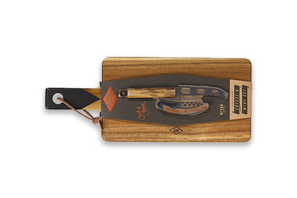 Gentlemen's Hardware Cheese & Wine Serving Set with Knife and Bottle Opener